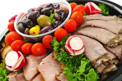 Cold cut platter Royalty Free Stock Images