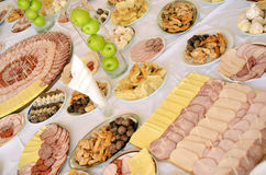 Cold Cut Platters In Restaurant Royalty Free Stock Photography