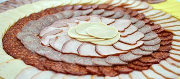 Cold Cut Platters In Restaurant Royalty Free Stock Image
