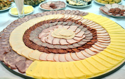 Cold Cut Platters In Restaurant Stock Image