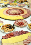 Cold cut platters in restaurant Royalty Free Stock Images