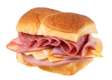 Cold Cut Sandwich Isolated Stock Photography