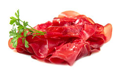 Cold cuts. Italian cold cuts called Bresaola stock photography