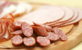 Cold cuts Royalty Free Stock Photos