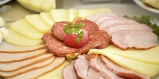 Cold Cuts And Cheese Royalty Free Stock Image