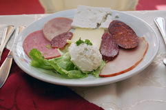 Cold cuts, appetizer Royalty Free Stock Image