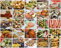 Cold cuts , bakery and fruits Royalty Free Stock Photos