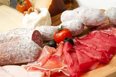 Cold cuts and cheese Stock Photos
