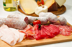 Cold cuts and cheese Stock Image