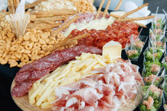 Cold cuts and cheese Stock Photography