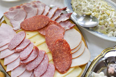 Cold cuts, delicatessen Stock Image