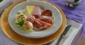 Cold cuts, delicatessen Royalty Free Stock Photo