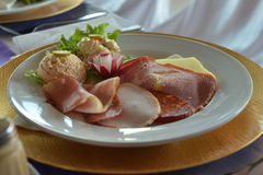 Cold cuts, delicatessen Royalty Free Stock Images