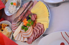 Cold cuts plate Stock Images