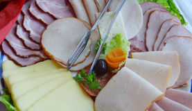 Cold cuts plate Royalty Free Stock Image