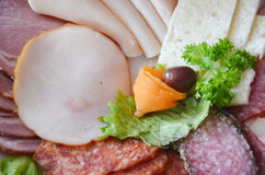 Cold cuts plate Stock Photo