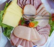 Cold cuts plate Stock Photography