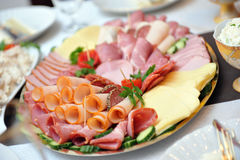 Cold cuts in a plate Royalty Free Stock Image