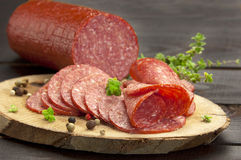 Cold cuts(salami) Royalty Free Stock Photography