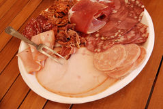 Cold Cuts, Sausages. Bologna Stock Photography