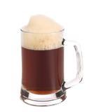 Cold dark beer in glass. Stock Photo