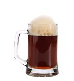 Cold dark beer in glass. Stock Photos
