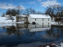 Cold day. A cold winter day at a rural mill Stock Images