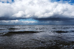 Cold day at Baltic sea. Royalty Free Stock Photo