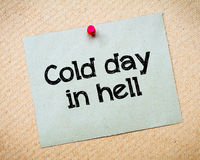 Cold day in Hell Royalty Free Stock Photography