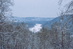 Cold day in Sigulda. Stock Image