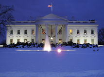 Cold December Day at the White House. Photo of the white house in washington dc after a record 2 foot december snowfall Stock Photos