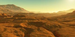 Free Cold Desert On Mars. Martian Landscape Royalty Free Stock Image - 169021016