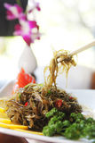 Cold dish. Chinese cold dish with seaweed and chili pepper. Shallow depth of field Stock Photos