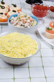 Cold dishes and salads Stock Photos