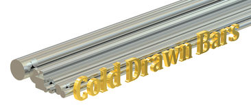 Cold drawn bars concept, rolled metal. 3D rendering Stock Photo
