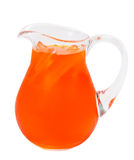 Cold drink. Orange colored, ice cold drink stock images
