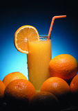 Cold drink. Glass with cold orange juice Stock Photo