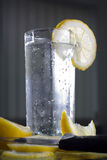 Cold drink. Limonade whit lemon slices Royalty Free Stock Image