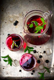 Cold drink from blackcurrant Royalty Free Stock Photos