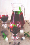 Cold drink from blackcurrant Stock Photography
