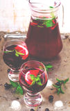 Cold drink from blackcurrant Stock Images