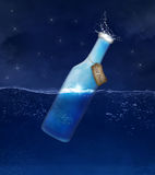 Cold drink bottle. Illustration of a cold bottle of water Royalty Free Stock Images