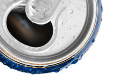 Cold drink can with fresh dew Stock Image