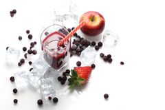 Cold drink. Fruit cocktail, refreshing healthy juice diet. royalty free stock photography