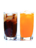 Cold-drink glasses Royalty Free Stock Images