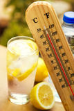 Cold drink on high temperature Stock Photos