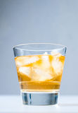 Cold drink with ice Royalty Free Stock Image