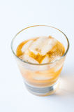 Cold drink with ice Royalty Free Stock Photography