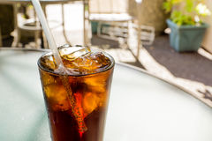 Cold Drink. Ice Cold Drink On a Hot Summer Day Royalty Free Stock Photography