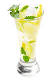 Cold drink with lemon and mint Stock Photography